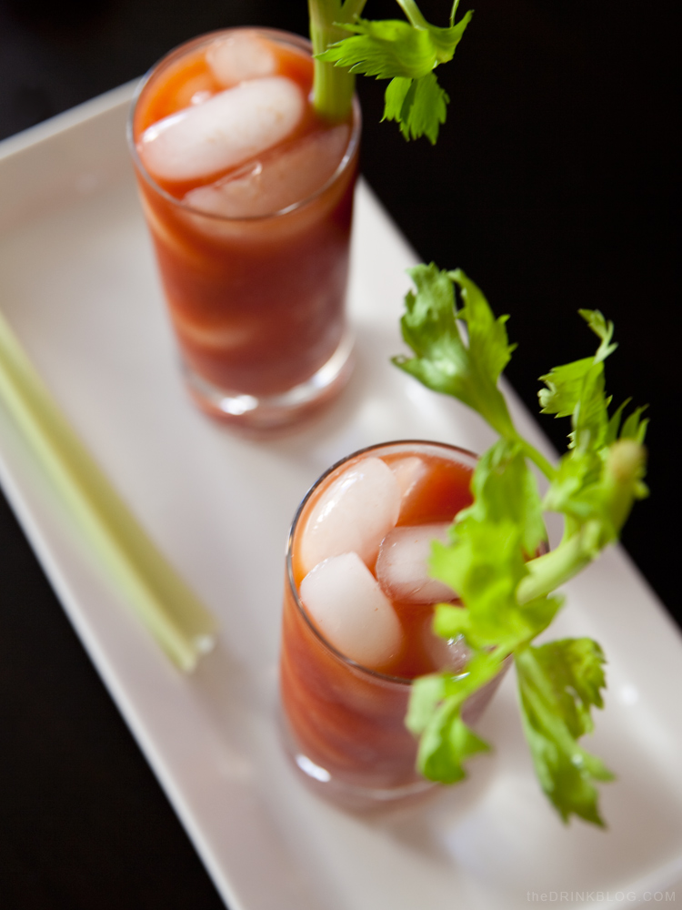 looking down into a sexy bloody mary