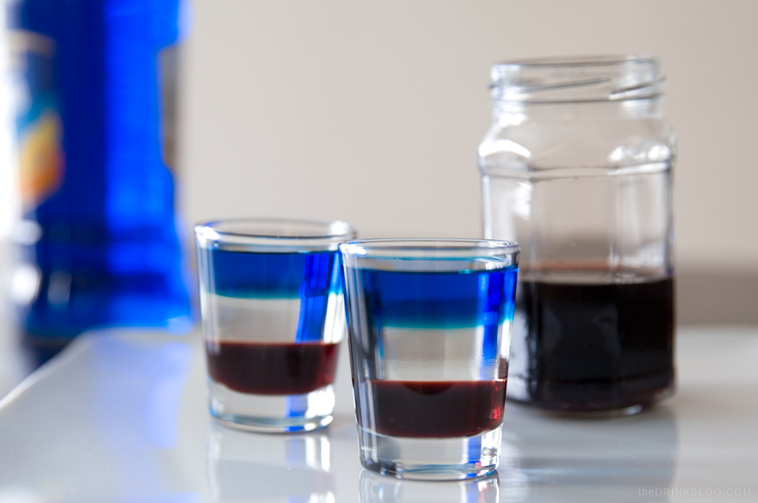 Captain america shot the ultimate patriotic shot the for Cocktail usa
