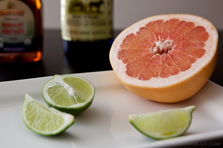 grapefruit and lime, with some tequila for the ultimate paloma