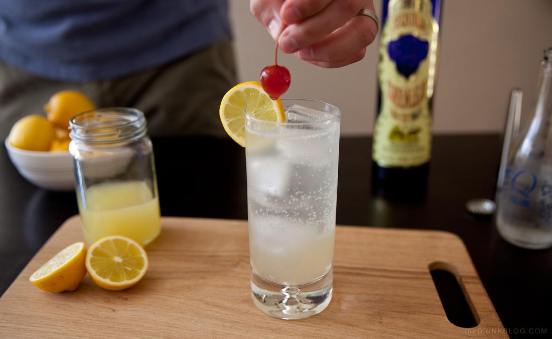 tequila collins garnish cherry