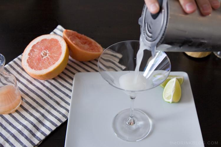 pouring the hemingway daiquiri