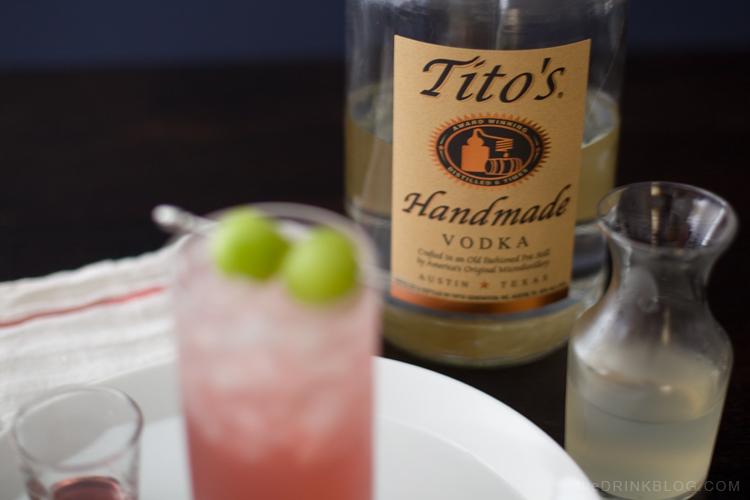 honey deuce made with tito's vodka