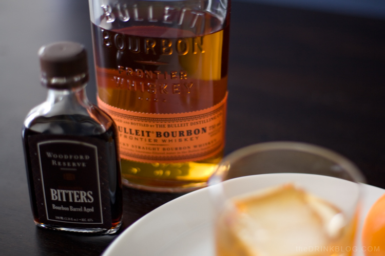 bulleit bourbon for an old fashioned