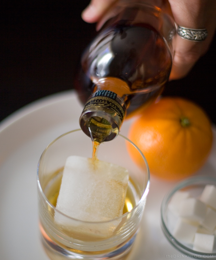 old fashioned add bourbon