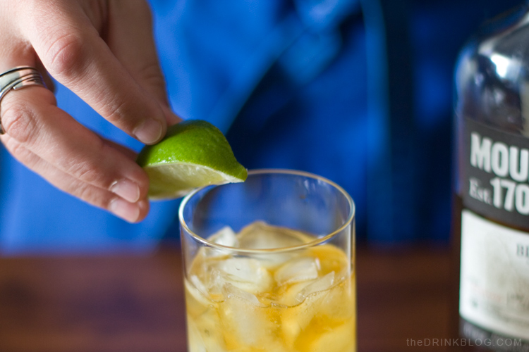 garnish the dark and stormy with lime