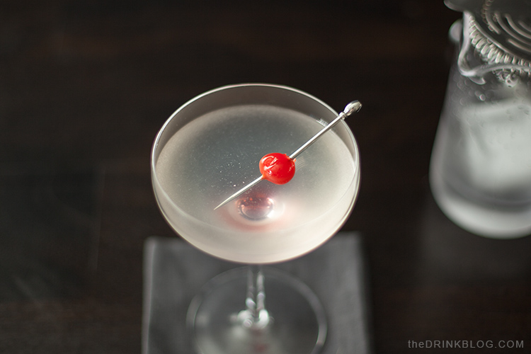 casino cocktail with cherry