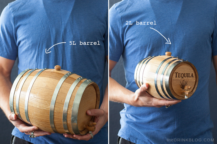 two and five liter barrels