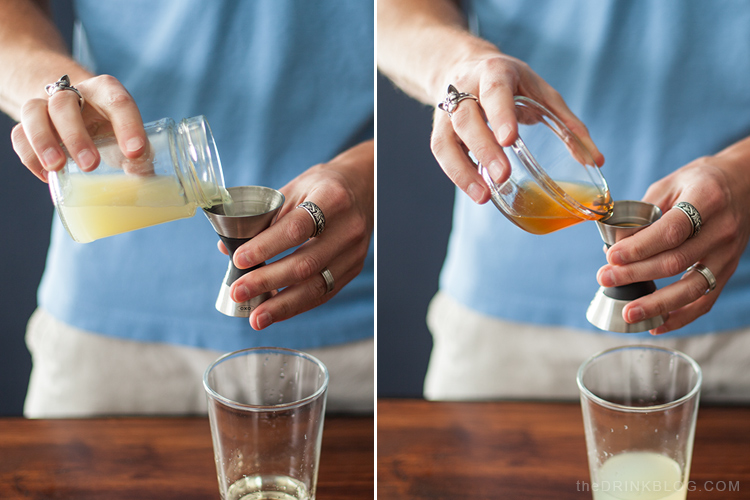 honey and lime juice for a margarita