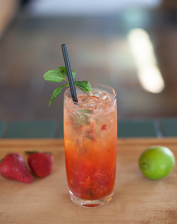 Strawberry Mexican Mojito: A Real Valentine's Drink | The Drink Blog