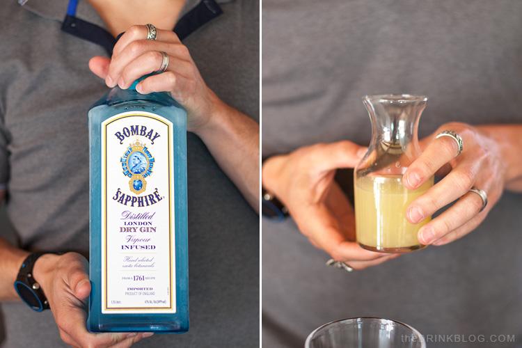 gin and lemon juice