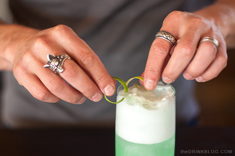 garnish with lime twist