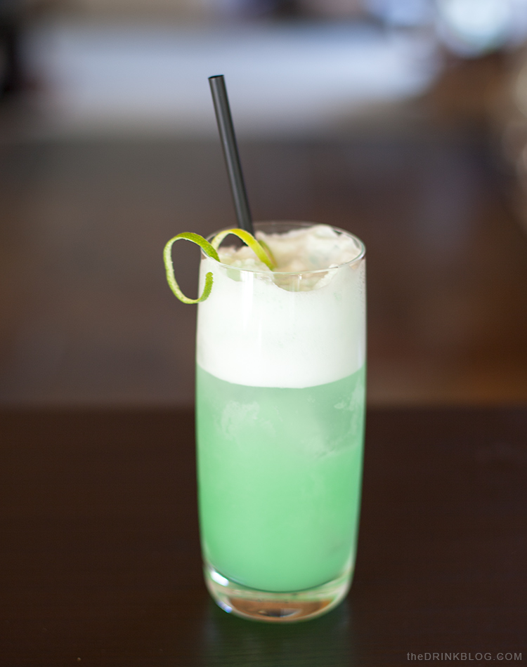 green fizz cocktail