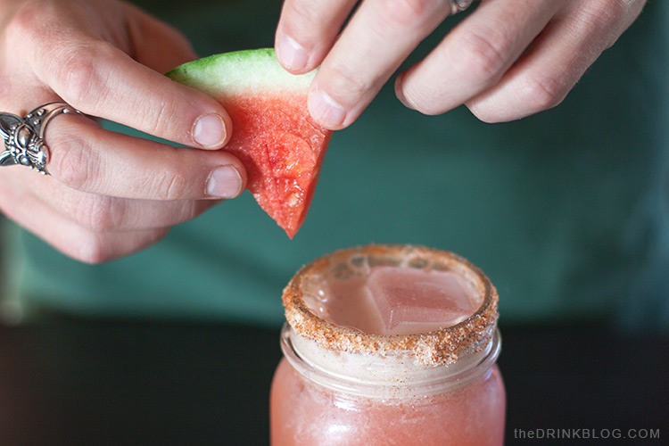 garnish with watermelon