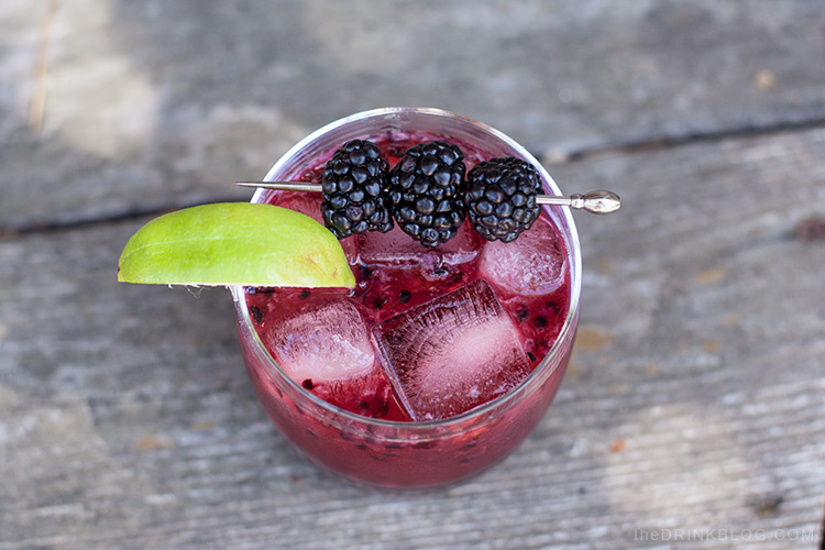 top shot of the mezcal blackberry smash