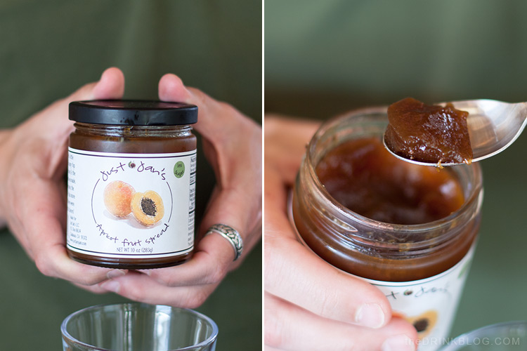 just jans apricot fruit spread