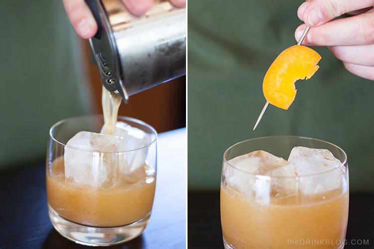 pour whisky sour cocktail