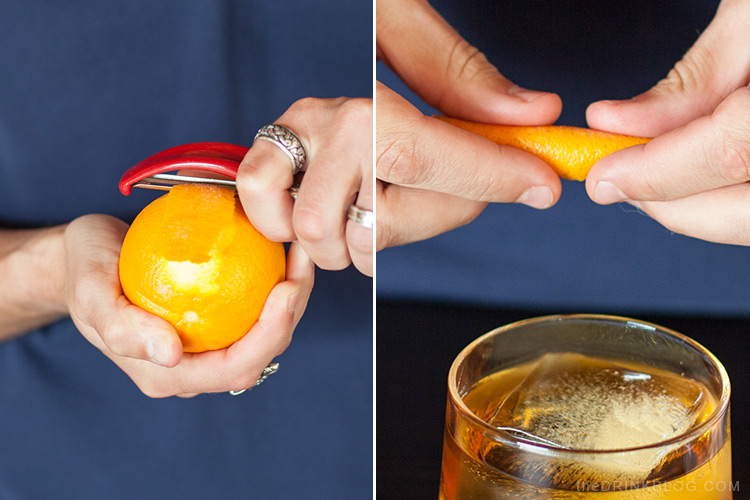 garnish with orange peel