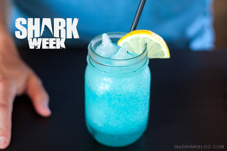 celebrating shark week with a cocktail