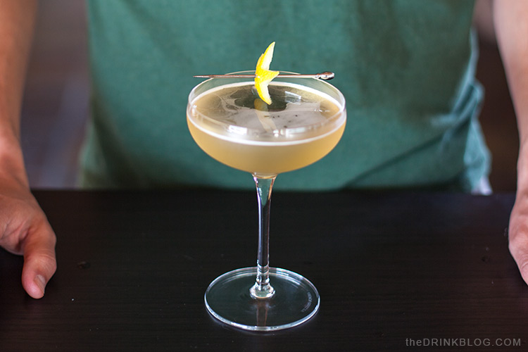 garnish american star cocktail with lemon