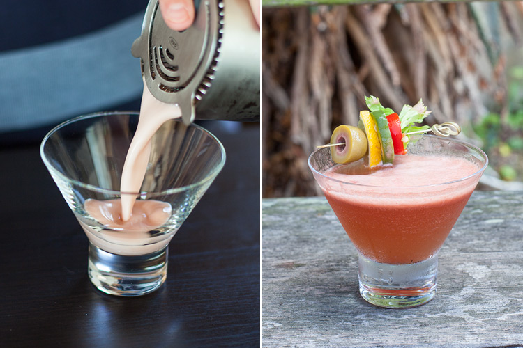 pour and garnish