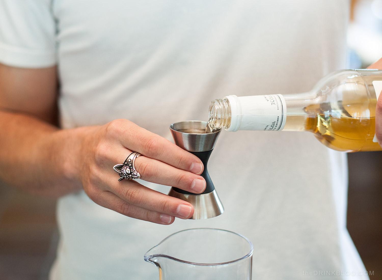 pour rum