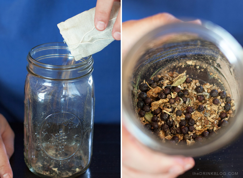 add spices to jar