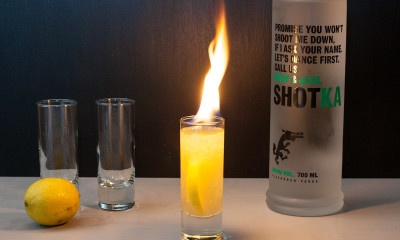 flaming shot shotka