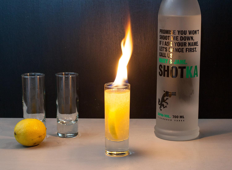 flaming shot shotka