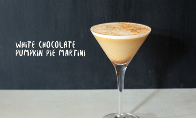 white chocolate pumpkin pie martini