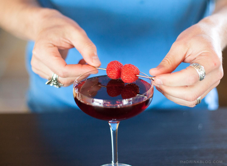 garnish with fresh raspberries