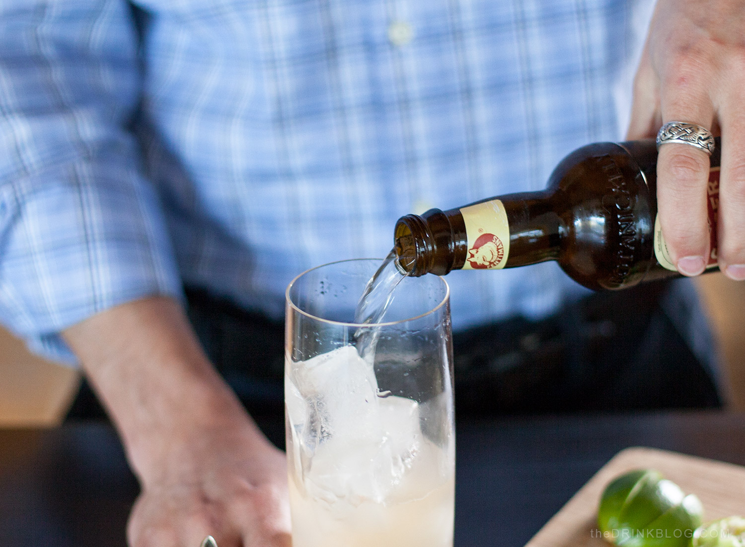 top with ginger beer