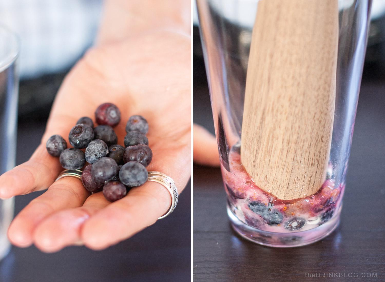 muddle blueberries