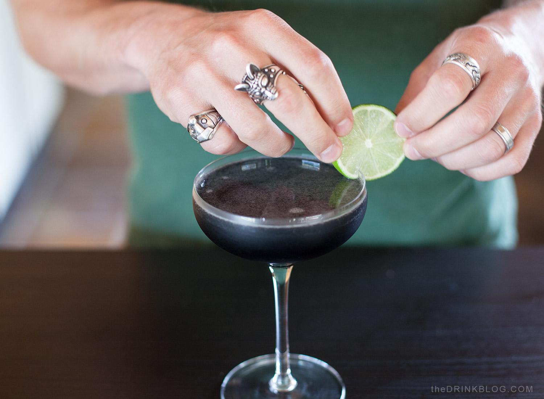 garnish with lime circle