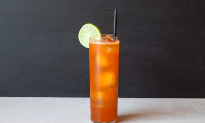 wild strawberry lime cocktail