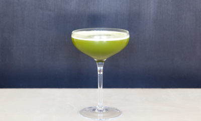hazelnut matcha cocktail